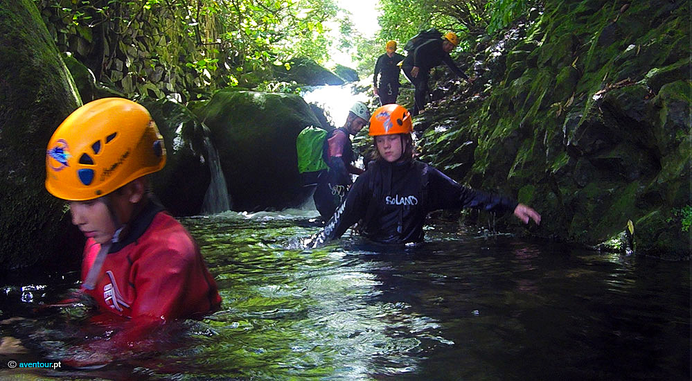 Canyoning - Family activities in Sao Jorge Island - Azores
