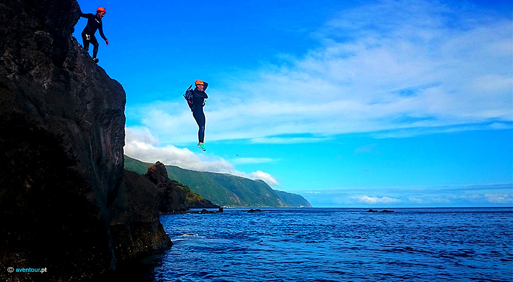 Coasteering in São Jorge Island in Azores