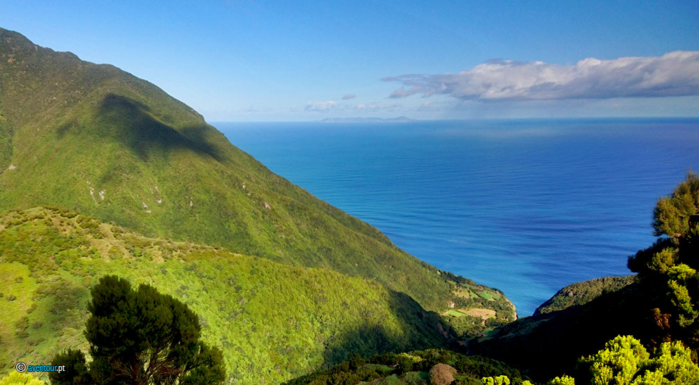 Hiking in São Jorge Island in Azores