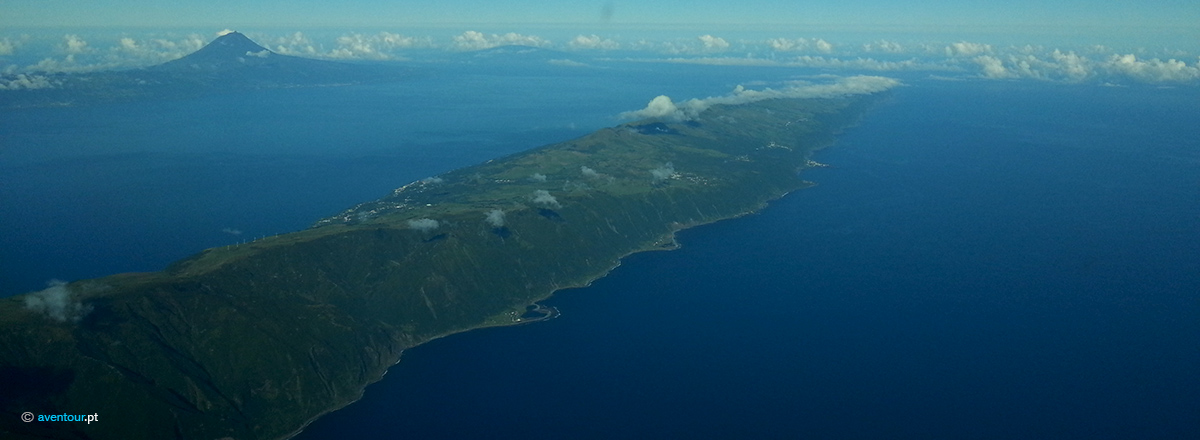 São Jorge Island from the Air