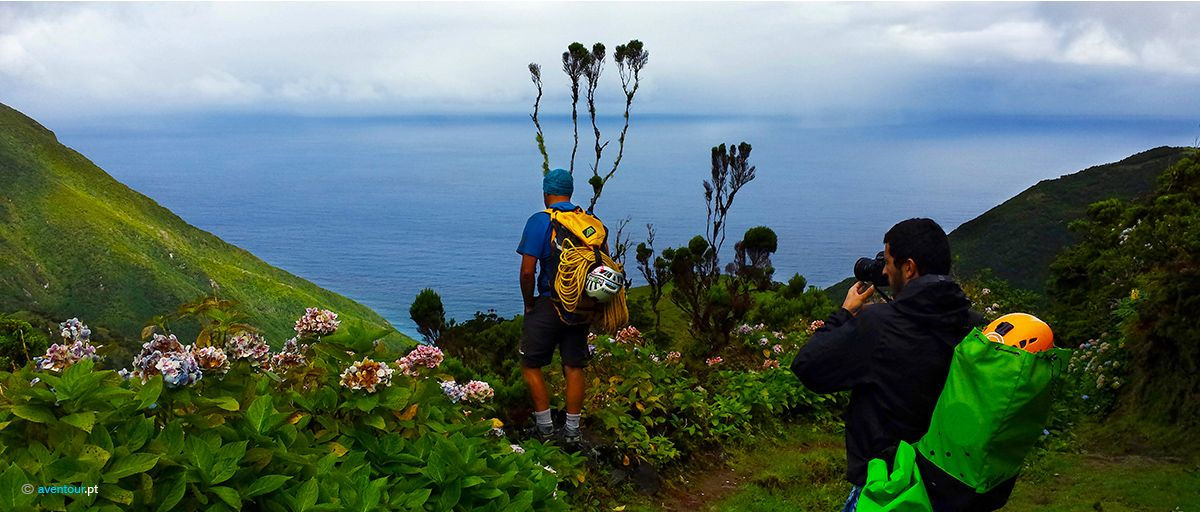 Hiking in Sao Jorge island in Azores
