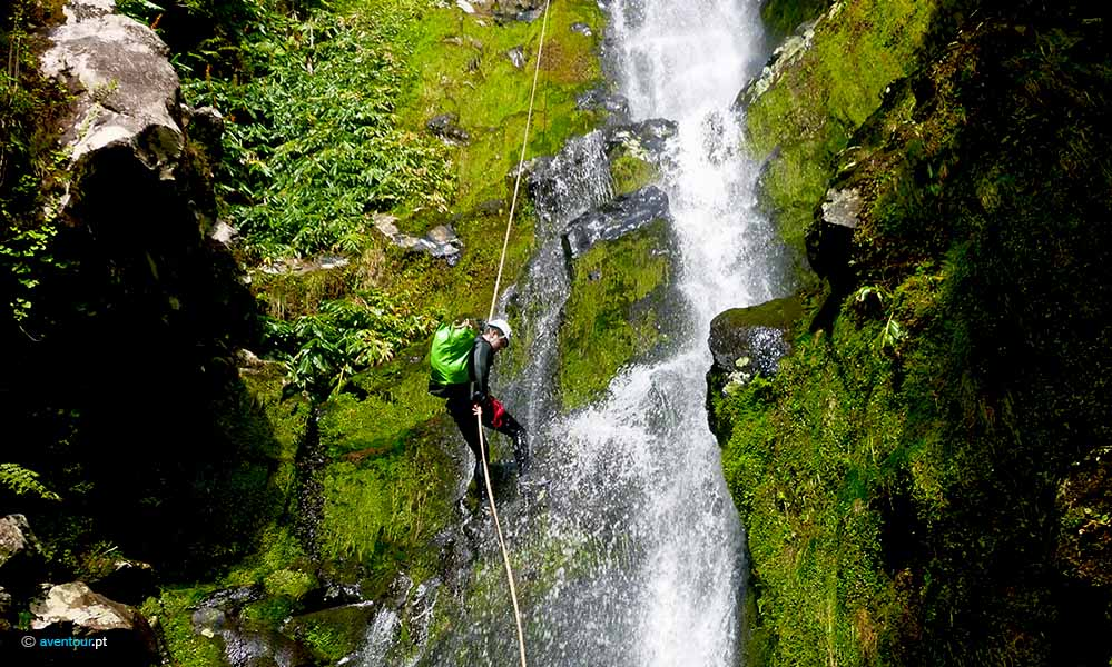 Canyoning in Sao Jorge Island in Azores