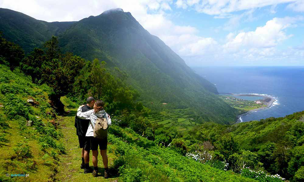 Walking Trail Paradise Valley in Sao Jorge in Azores