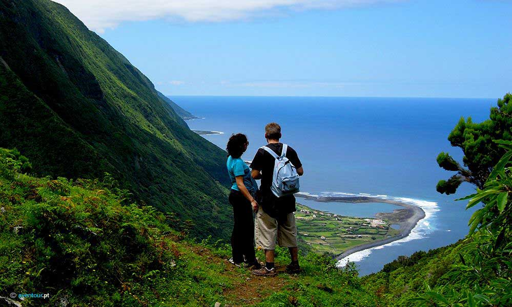 hiking Trail Paradise Valley in Sao Jorge in Azores