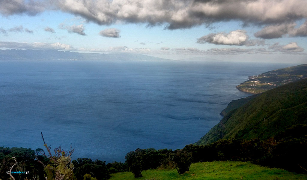 Walking Trail From de Mountain to the Sea in São Jorge Island in Azores